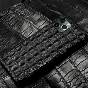 LANGSIDI Luxury Real Genuine crocodile leather case XR XS Original phone cover for iphone 11 pro MAX 7 8 plus 5s