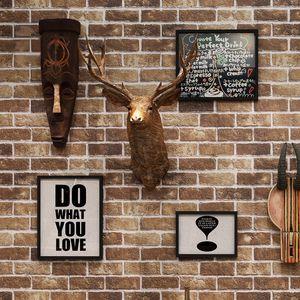 Retro Imitation Brick Wallpaper 3D Self Adhesive Waterproof PVC Wall Sticker Restaurant Cafe Living Room Wall Paper For Wall 3 D