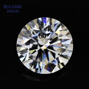1 Carat D Color Round Brilliant Moissanite Stone Beads 6.5mm VVS1 Excellent Cut Grade Test Positive Lab Diamond Q1219