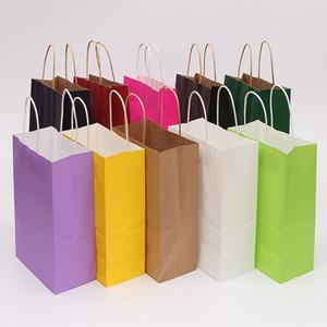 Kraft Paper Sacs Petite Paper Cadeau Sacs avec poignées Sacs à provisions recyclables Saint-Valentin Jour de Saint Valentin Sac d'emballage de Noël