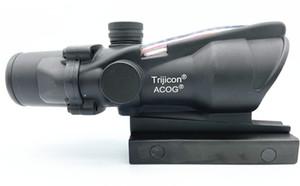 ACOG 4X32 style réel fibre optique rouge Crosshair réel rouge ou vert fibre Source Duel Illuminated Portée Rifle