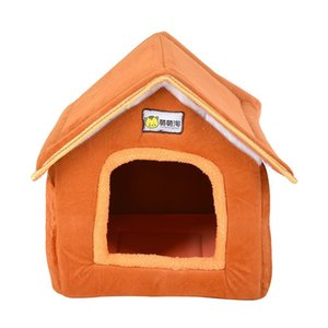 Foldable Pet House Bed Nest With Mat Soft Winter Dog Puppy Sofa Cushion House Kennel Nest Dogs Cat Bed For jllpmg xmh_home