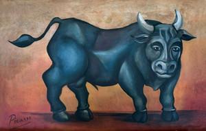 PABLO PICASSO ESPANHOL ARTISTA Touro Home Decor pintado à mão HD impressão pintura a óleo sobre tela Wall Art Canvas Pictures 201115