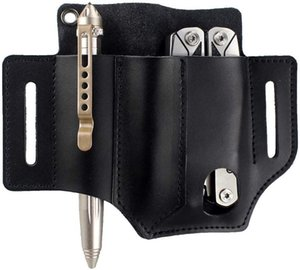 Depring Leather Tool Sheath 3 Pockets Multitools Holder Holster EDC Essentials Organizer Belt Pouch