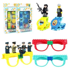 Часы Друзья Ninjagoing игрушки DIY строительные блоки очки базовой платы Рамка AvengersING Кирпичи Детские Подарки
