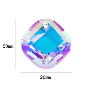 Migliore qualità 20mm forma quadrata pendente cristallo strass perline Gens per orecchini collana di gioielli fai da te accessori 1 qylcmm