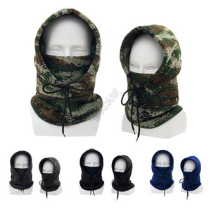Inverno Quente Cabeça Completa Capa De Malha Eslava Gosquim Caps Slocky Lace Up Scarf Face Masks Máscara Sólida Skimasks Ciclismo Headwear D102801