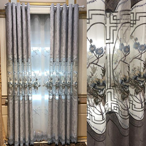 New Norse Shinier Hollow Embroidery Curtains for Living Dining Room Bedroom.1