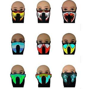 Для светодиодной голосовой маски для с ездой Music Mask Sound Party Active Flash Scating Control Dance Up Light Music Masks IIA259 EL LED OWCUM