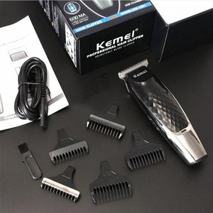 Kemei Men Hair Clipper Rechargeable Electric Trimmer with 5 Limit Combs USB Charger Oil Head Carving Hair Shaving Machine 35 #kf5g