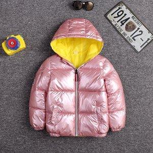 IVJF Rakun Kış Sıcak Çocuk Aşağı Kış Ceket 2018 Ceket Çocuk Kalın Paragraf Yapay Sijimz Kürk Yaka Bayan039; S COAT Ceket S18101