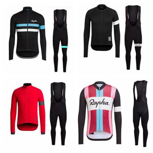 RAPHA team Breathable Comfortable Cycling long Sleeves jersey bib pants set Hot Sell MTB outdoor sports cycling equipment 102909