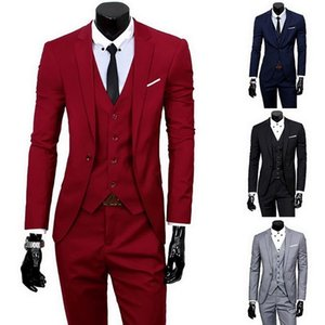 JODIMITTY 2020 Male Suits Blazer Slim Business Formal Dress Waistcoat Groom Man Suit Exquisite Weeding Office Set Thin Blazer