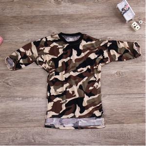 Baby-Camouflage Tuch Kinderkleidung Mädchen-Sommer-Overall-Jungen-Mädchen-Baby-Pyjamas Set-Jungen-Kleidung Stile Knielange Kleider YHM105-1