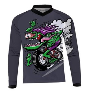 2017 hot sale RF long-sleeved racing suit T-shirt for men and women outdoor team sports bike speed surrender can be customized polyester qui