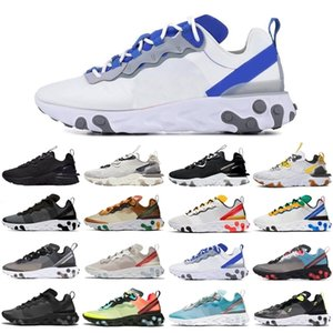 Cheap react vision element 55 87 men women sport shoes triple black athletic mens womens trainers sports sneakers runners size 36-45