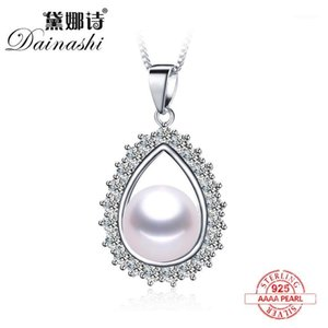 Lockets 2021 100% Natural Freshwater Pearl Fashion Zircon Pendant Necklace 925 Sterling Silver Luxury Crystal Wedding Jewelry Gift1