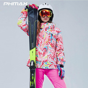 PHMAX Women Ski Suit Winter Breathable Snowboard Skiing Jacket Female Waterproof Keep Warm Outdoor Sports Snow Jackets and Pants