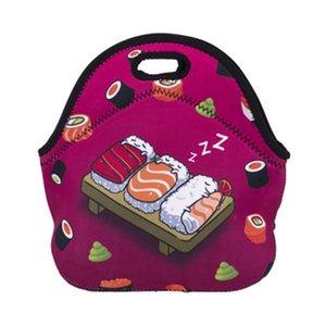 Satılan iyi yalıtımlı soğutucular öğle yemeği çantaları neopren malzeme piknik baskı çanta çanta tek boynuzlu at deseni farklı tasarım popüler 17xDH1