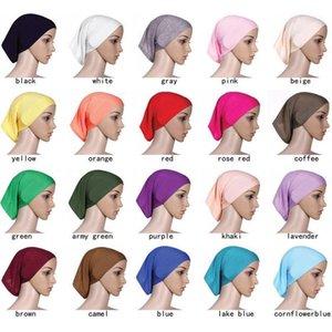 Muslime Kopftuch 2020 Frauen Hijab Cap Hat Cap Baumwolle unter Schal Knochen Motorhaube Hals Cover Muslim Schal Großhandel1