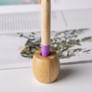 في الأسهم حامل فرشاة الأسنان الطبيعية الخيزران لون خشبي الأسنان فرشاة حامل حاملي الحمام الملحقات نوم دائم 1 95CD E1