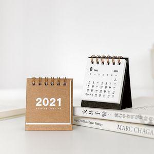 8 Color New Simple Mini Calendar Desk Calendar Vertical Paper Multi Function Timetable Plan Notebook Office Supplies bbyxNg sweet07