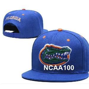 Florida Gators Hat Design de Moda Crimson Tide toda a equipe NCAA ajustável Hip Hop Cap ajustável EUA Colégio Snapback Chapéus Fan Caps a4
