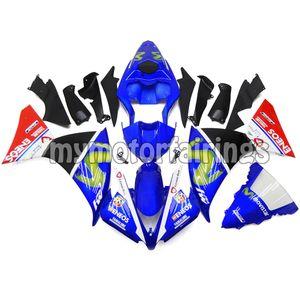 Kodu 2013 Yamaha YZF1000 2012 2014 Fairing Kitleri YZF R1 12 13 14 ABS Plastik Enjeksiyon - Mavi Siyah Kırmızı
