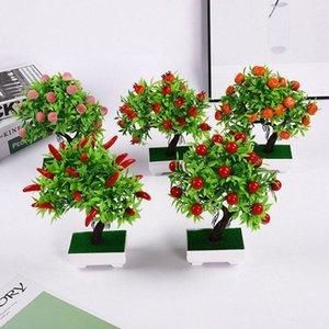 Parti Ev Dekorasyon 23 Tane Fruit kmkj # Yapay Bitkiler Sahte Ağacı Yeşil Köpük Meyve Ağacı Plastik Bitkiler Mini Saksı