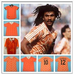 1988 89 91 95 96 Jersey de fútbol Retro Países Bajos Marco van Basten Gullit 97 98 Voetbal Shirt Seedorf Bergkamp Kluivert Robben 2002 1974 10
