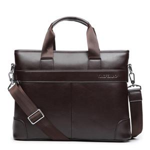 2020 мужская деловая повседневная сумка PU кожаный портфель мужская сумка для мужчин Брайна высокого качества мужской бизнес большой емкостью