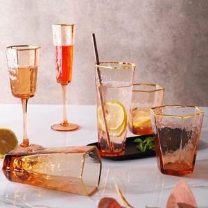 Creative or Rim Martelé Champagne Verre à vin Glasswhisky Verre d'eau créative d'or offre de réduction sur yxlfcz mx_home