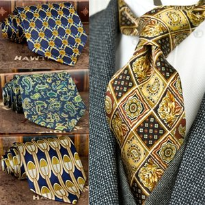 Handmade Printing Mens Ties Necktie Pattern Paisley Geometric 100% Silk Printed Classical Free Shipping Unique Suit Gift For Men 201028