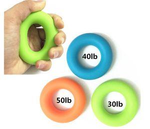 Silikon tutuş yüzük, çocuklarda, Kondisyon Aletleri, Sağlık masajı, Üç ağırlıklar için el egzersiz O-ring parmak kavrama cihazı
