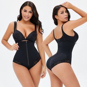 Classeurs et Shapers Femmes Gastronomie Body Shaper Colombien Colombiens Gaine Gaine Belly Sangles Épaule plate Slim High Taille Slips