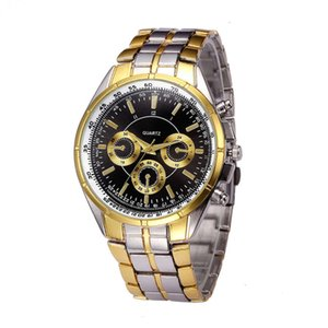 Tyrant Plated Watch Gold Fashion Local Three Pin Dial Dial Business Кварцевые часы мужские часы