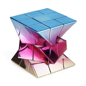 Cube 3x3x3 Metalized Electroplating Twisted Cube Limited Edition Windmill Fisher Twisty Cube Educational Toys For Child
