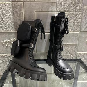 shoes 2020 الساخن بيع الأحذية النسائية جلد حقيقي متراصة البسيطة حقيبة عالية أعلى الحذاء والعتاد مكتنزة كعب الحذاء shiping مجانا