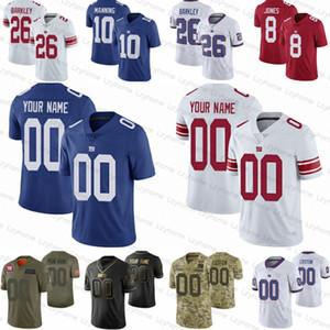 Personalizado Mens Mulheres Newyork GiantsJuvenil 26 Saquon Barkley 86 Darius Slayton 21 Jabrill pimentas 8 Daniel Jones dourado Tate Equipamentos