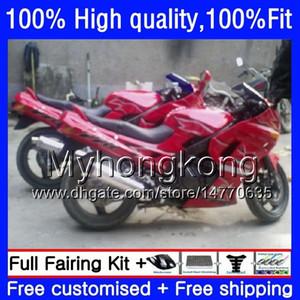 Injection For KAWASAKI ZZR-400 ZZR400 1993 1995 1996 1997 1998 Dark red hot 1999 54HM.43 ZZR 400 2000 2001 2002 2003 2005 2006 2007 Fairing