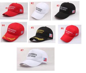 Make America Great Again Hat Embroidery Donald Trump Hats MAGA Trump Support Baseball Caps Sports Baseball Caps USA Flag Mens Womens Fashio