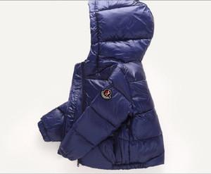 Kinder Winter-unten Mäntel Jungen und Mädchen Mode Jacken Kinder verdicken mit Kapuze Mäntel Warming Duck Down Oberbekleidung Kleidung aus uutrade