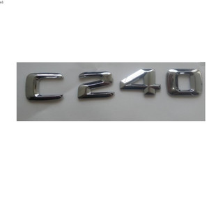 Chrome 3D ABS Plastic Car Trunk Rear Letters Badge Emblem Decal Sticker for Mercedes Benz C Class C240