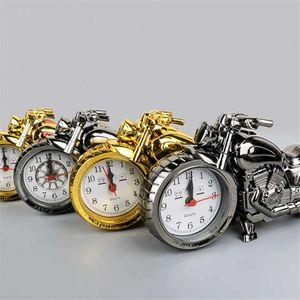 الإبداعية الرجعية المنبه دراجة نارية القطار المنبه الدراجة محاكاة نموذج إنذار الاطفال على مدار الساعة هدية العيد الديكورات المنزلية