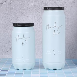 260ml 460ml Cola Can Bottle Soda Can inspired Stainless Steel Water Bottle Coke Jar with lid with straw Costom Design 29 G2