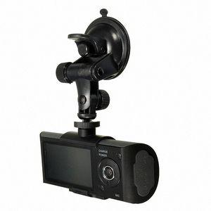 """2.7 """"في تاكسي سيارة CCTV الجبهة الخلفية كاميرا مزدوجة HD فيديو مسجل رحلة كاميرا GPS سيارة دفر pYhx #"""