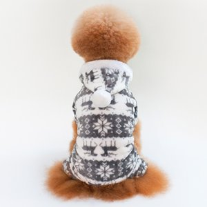 2020 Fashion Pet Dog Winter Warm Cotton Print Clothes For Puppy Jumpsuit Hoodie Coat Apparel Keep Warm Portable Dog Clothes Pet Supplies