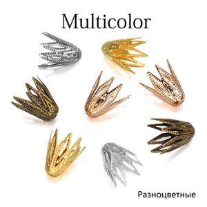100pcs lot 810 mm Gold Filigree Cônes Casquettes End Perle Creux Flower Pour Bricolage Bracelet Boucles d'oreilles Bijoux Fournitures H BBYFHZ