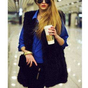 Women Winter Faux Fur Vest Sleeveless Fashion Waistcoat Thick Manteau Fausse Fourrure Outwear Femininas Jacket 6 Colors AL09