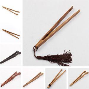 Natural Bambu Clip clipe Handmade chá Tweezer Chinês Kongfu Tea Tools Multifunções Bacon Salada de Bacon Açúcar Torrada Torrada Tongs GWB4076